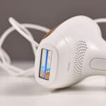 Small IPL 'Intense Pulsed Light' laser hair removal device for usage at home